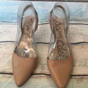 Sam Edelman  Orly slingback nude beige  heels  7.5